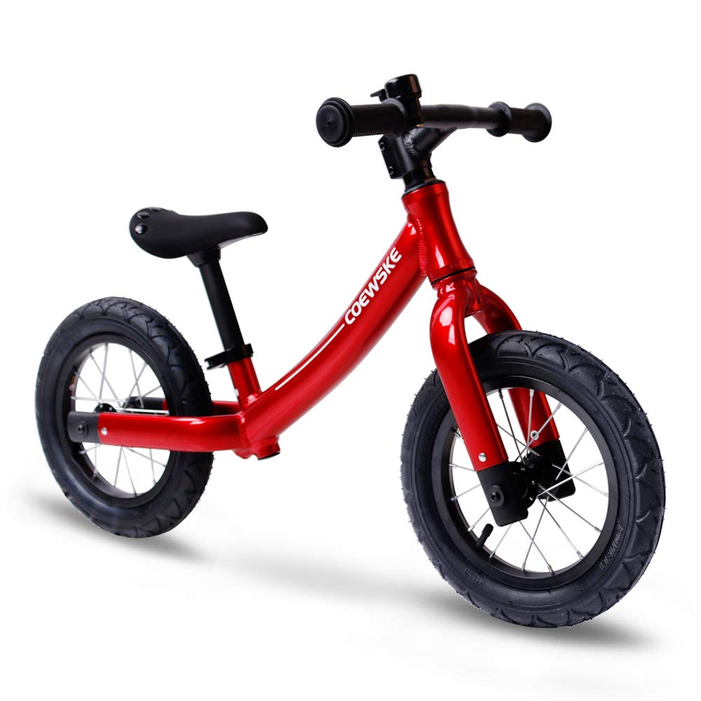 COEWSKE 12' Balance Bike for Kids Children Running Bicycle Aluminum Alloy No Pedal Walking Bicycle for Ages 2 to 5 Years Old