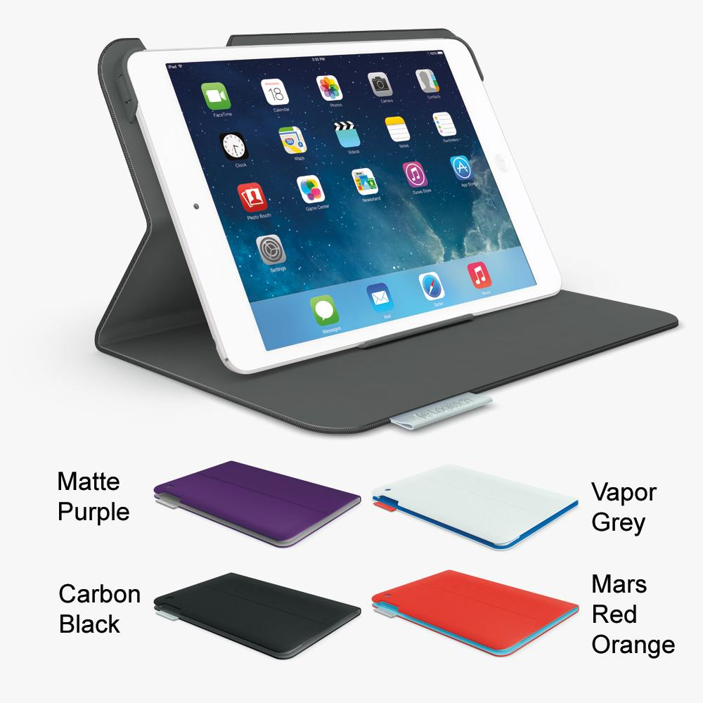 logitech hinge flexible case with any angle stand for ipad air mid grey 939 000924. Black Bedroom Furniture Sets. Home Design Ideas