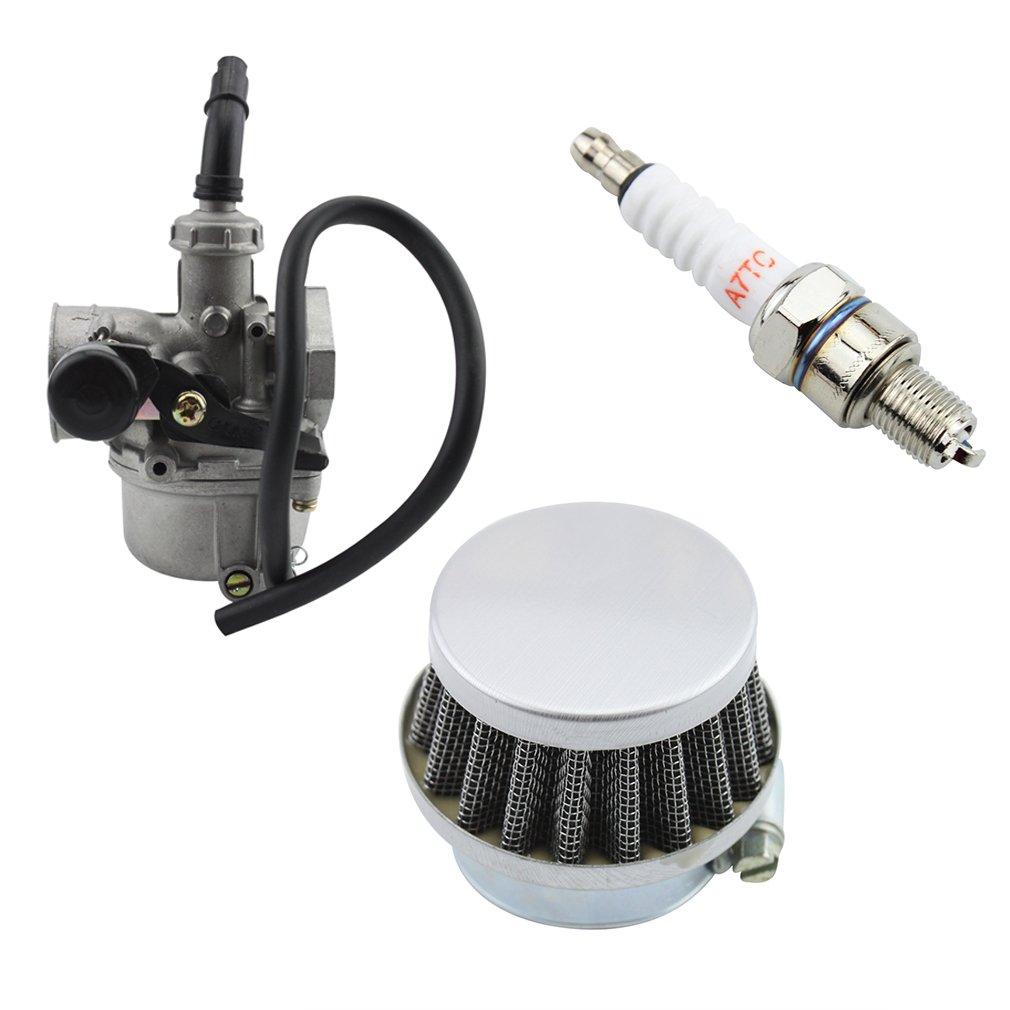 GOOFIT 50/cc 90/cc 110/cc Vergaser PZ19/Hebel des Luft-Filter Z/ündkerzen ATV Go-Kart China