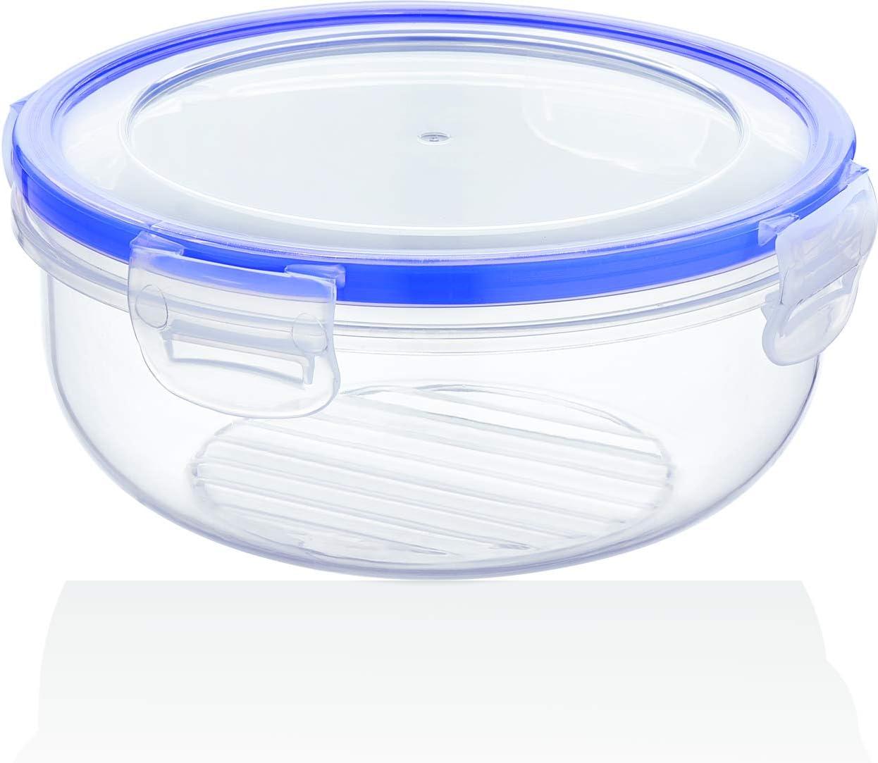 BAGER 2er Set Frischhaltedose Vorratsdosen Mikrowellengeeignet 2250ml BPA frei Klickverschluss