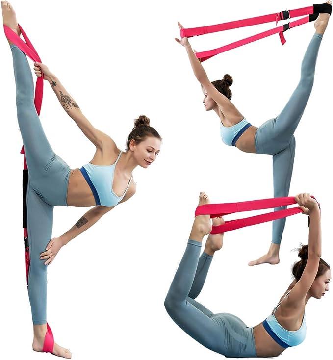 Elastic Resistance Bands Yoga Exercise Gym  Pilates Stretch Straps Physio UK