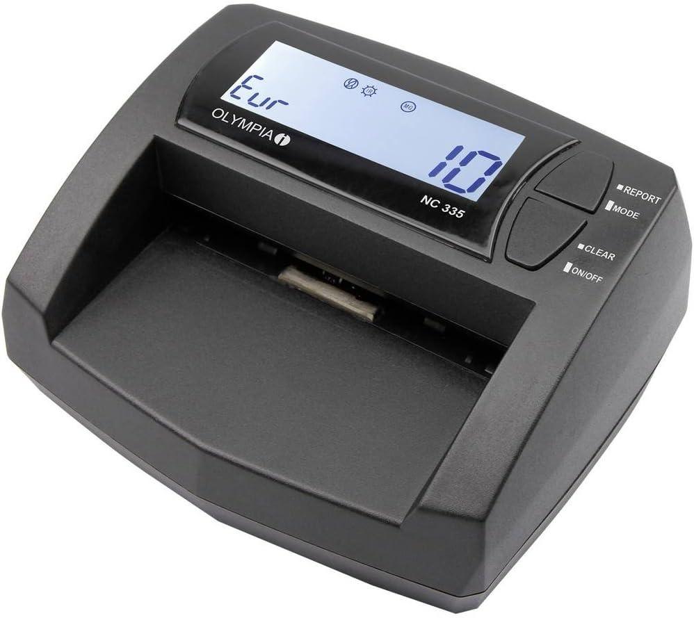 OLYMPIA NC NC 335 en efectivo nota simple, rápido, seguro y actualizable, negro: Amazon.es: Oficina y papelería