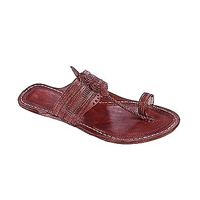 All Time Preferred Red Brown kolhapuri Chappal For Men KRKA-M-253