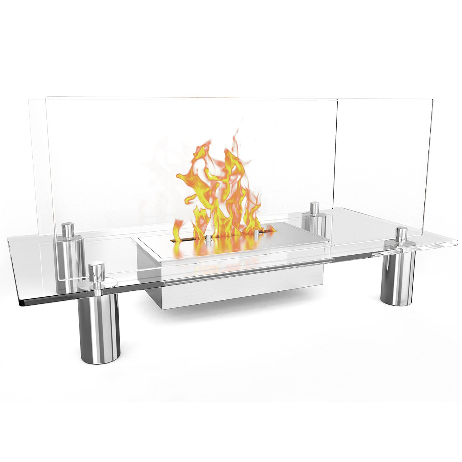 Regal Flame Delano Ventless Free Standing Bio Ethanol Fireplace Can Be Used as a Indoor, Outdoor, Gas Log Inserts, Vent Free, Electric, Outdoor Fireplaces, Gel, Propane & Fire Pits. by Regal Flame