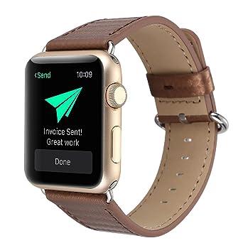 Bracelet en Cuir De Fibre De Carbone 38Mm Bracelet Apple| Bracelets De Remplacement en Facilement