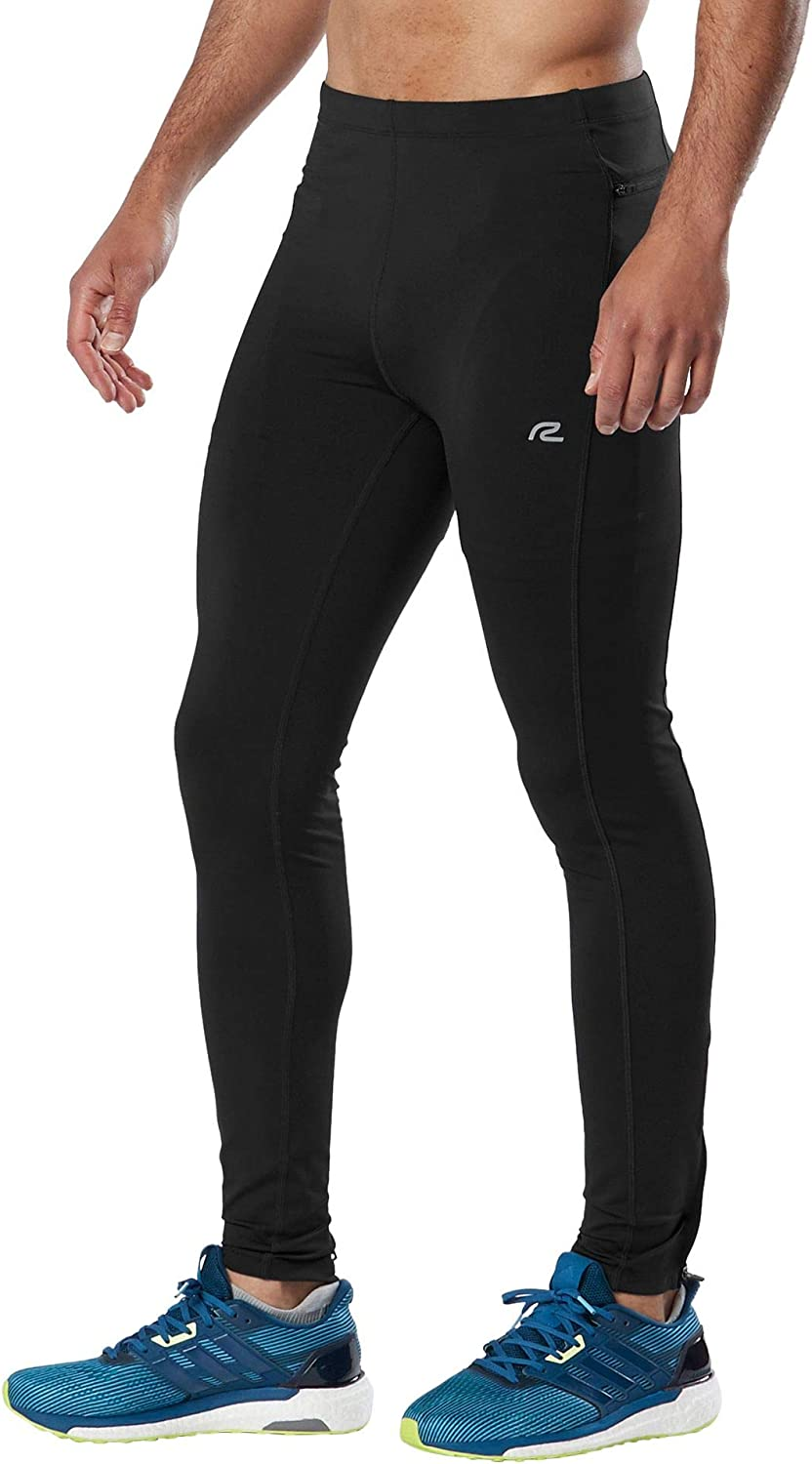 Men's R-Gear Recharge Compression Running Tights with Zipper Pocket and Ankles