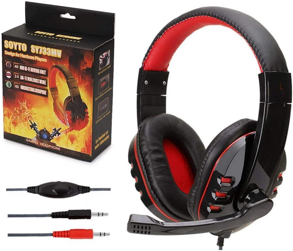 FANEO Stereo Noise Cancelling Over Ear with Mic Gaming Headset Headphones