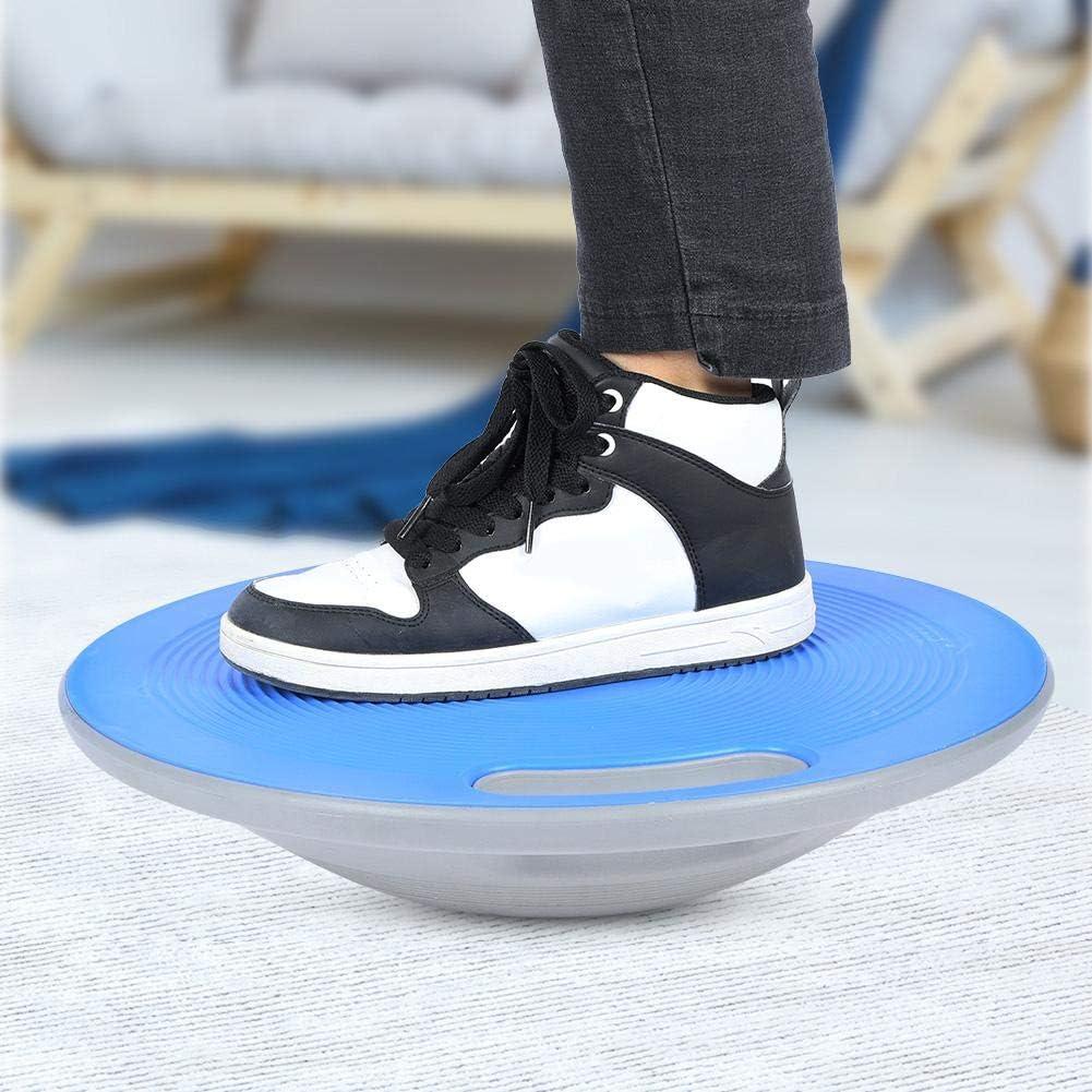 Qiilu Wobble Balance Board Round Fitness Balance BOAD with Handles 40cm*10cm Blue