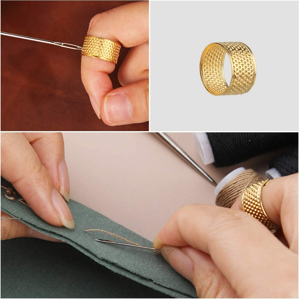 6 PCS 54 Yard Leather Sewing Thread Tape Measure for Leather Hand Stitching DIY Sewing Seam Rippers Leather Repair Sewing Kit with Sewing Awl Suitable for Beginners Leather Sewing Needles