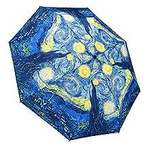 Galleria Starry Night Folding Umbrella