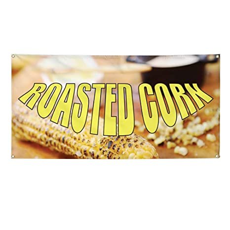 Set of 3 Vinyl Banner Sign Fresh Roasted Nuts #1 Style A rosted Marketing Advertising Purple 24inx60in 4 Grommets Multiple Sizes Available