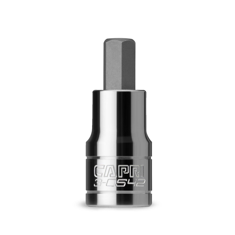 Capri Tools 2.5 mm Hex Bit Socket, 1/4-Inch Drive, Metric 3-0532
