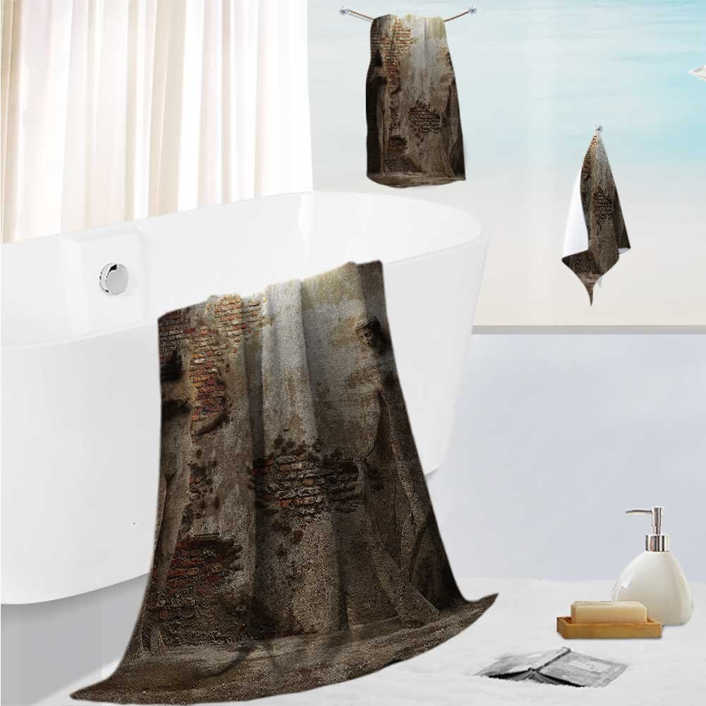 SCOCICI1588 Luxurious Soft and Thick Bath TowelsNative Thai Style Molding Asian Traditial Attire Temple Culture Eco Friendly,Bath Towels, Hand Towels, 19.7''x19.7''-13.8''x27.6''-31.5''x63''
