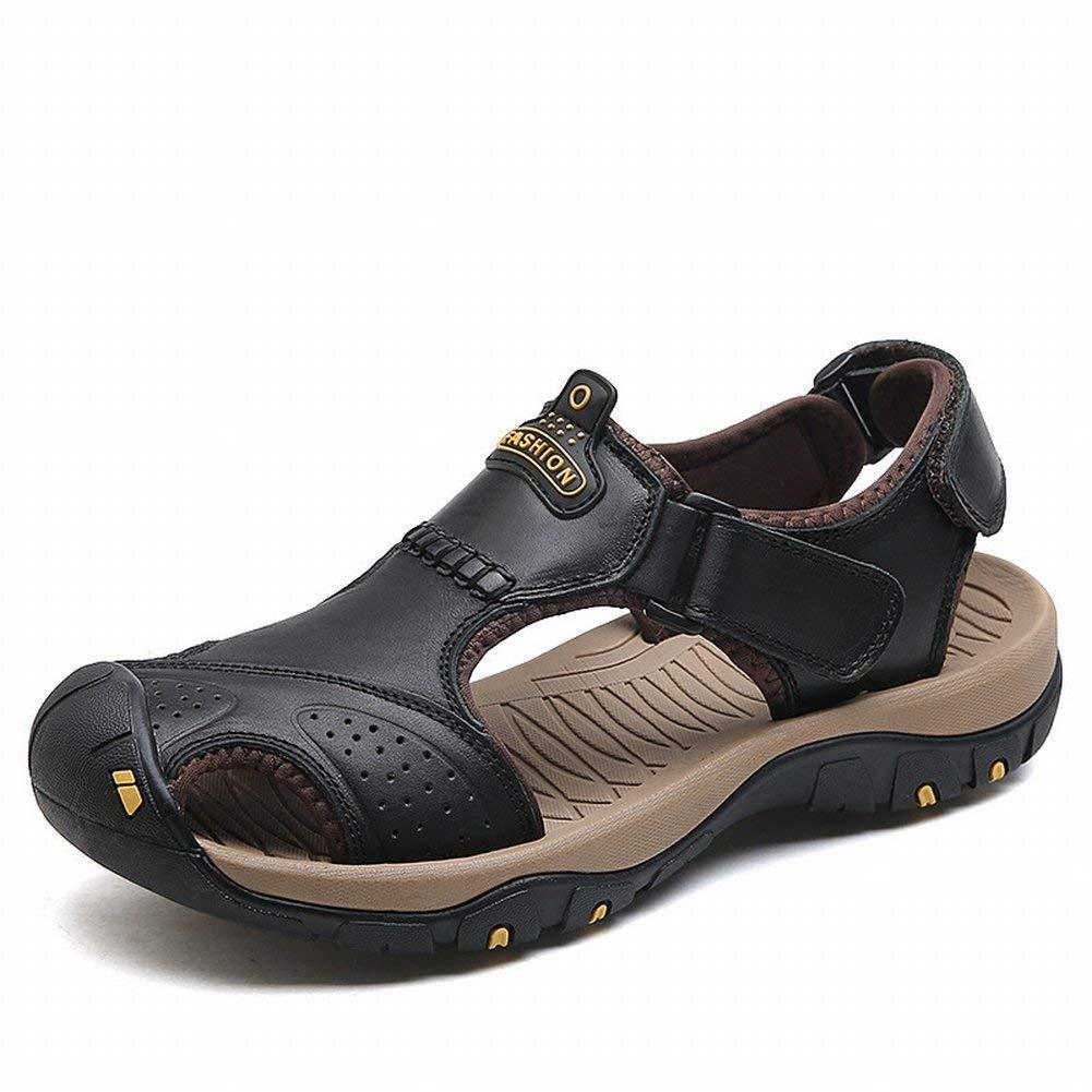 Noir Oudan Sandales Baotou en Cuir à la la la Mode Sandales Tout-Aller décontractées Grandes Sandales Confortables (Couleuré   Noir, Taille   EU 40) 8a1