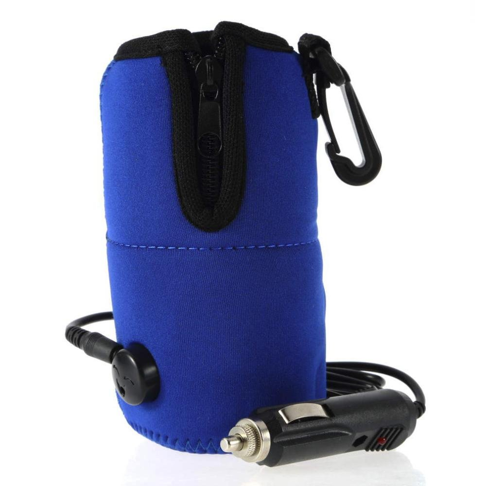 12v Universal Car Travel Food Milk Water Bottle Cup Warmer Heater, Blue Portable USB Travelling Bottle Milk Quick Heater for Baby Kids Aolvo