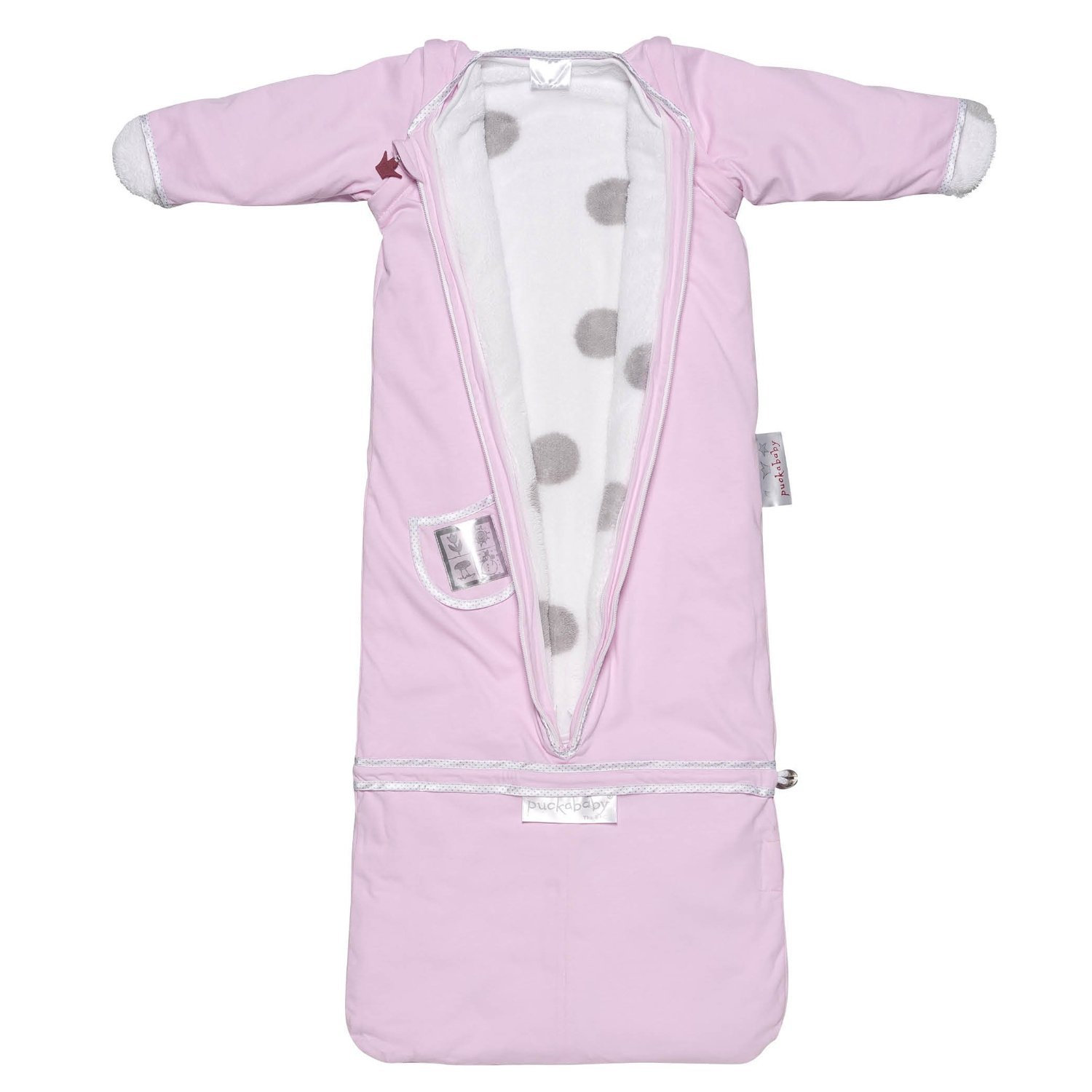 Puckababy The Bag 4 Seasons Baby And Toddler Wearable Blanket, Pink 7 M - 2.5 Yr.