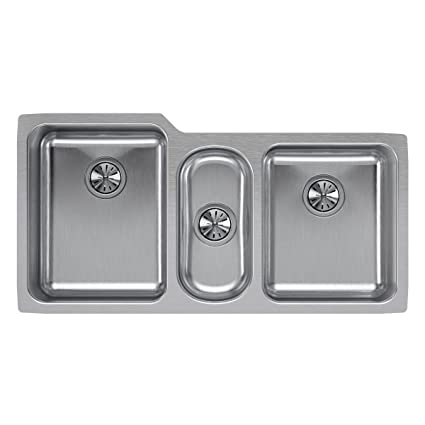 Elkay Lustertone ELUH4020 Triple Bowl Undermount Stainless Steel Sink