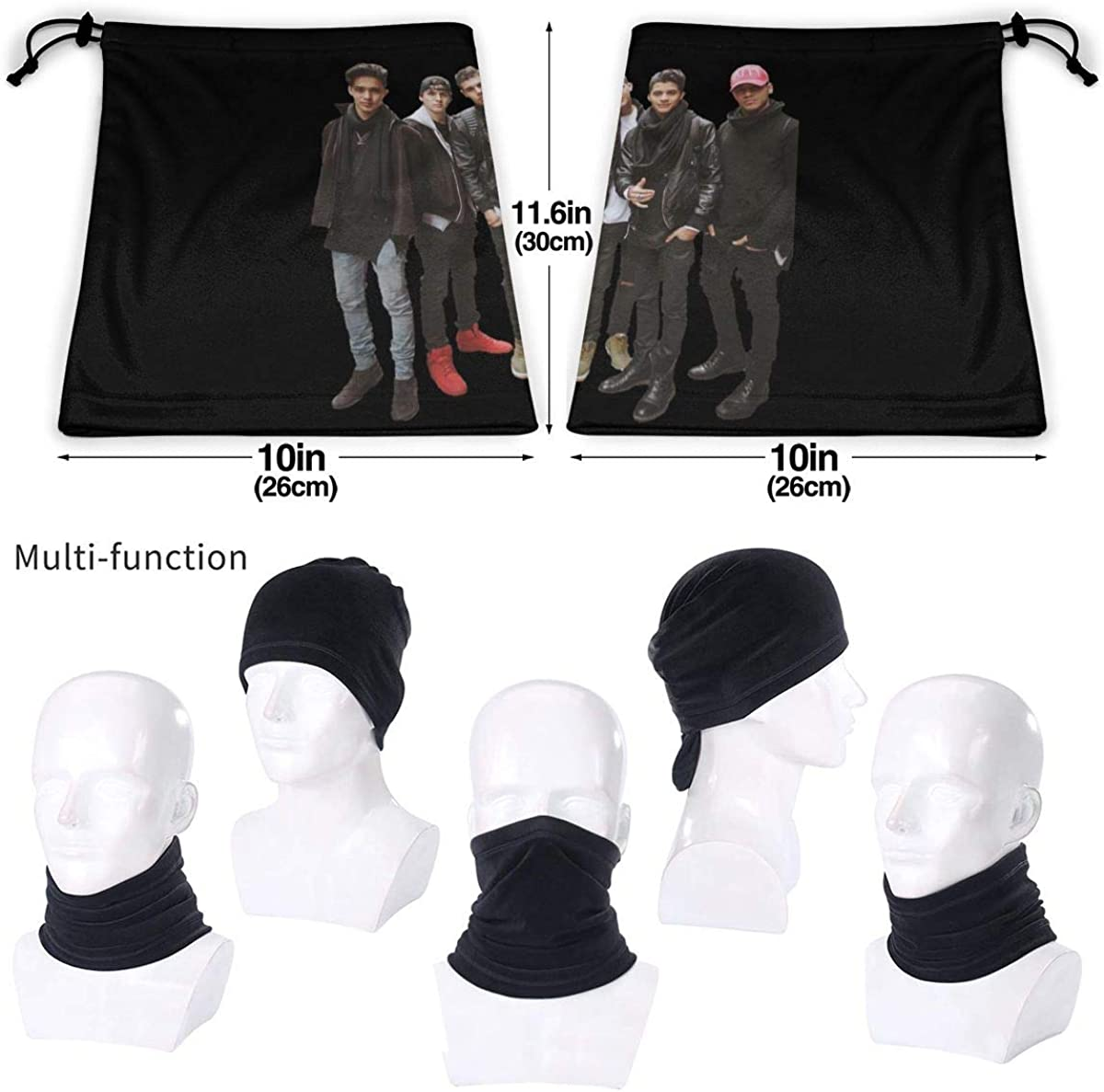CNCO Highly Elastic Warm Microfiber Neck Thermal Mask Scarf Unisex Windproof Suitable For Winter