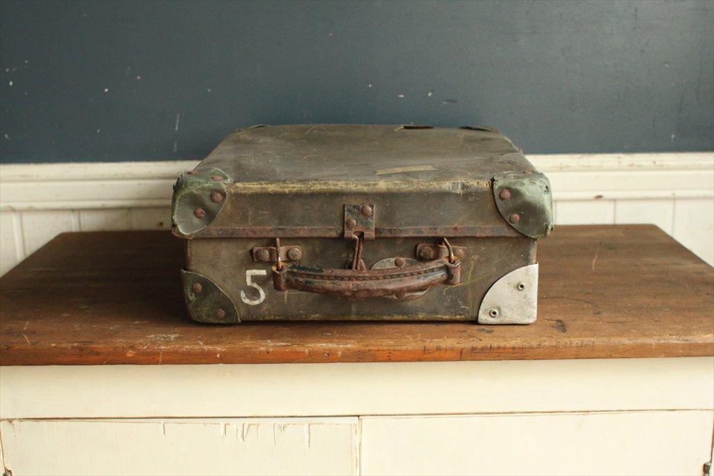 英国(イギリス)アンティーク◇イギリス軍の輸送用ボックス/ミリタリー雑貨(a1500009-1) B015MQWRPM