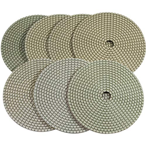 y Diamond Polishing Pads for Concrete Terrazzo Travertine Marble Floor Edges Countertop Polishing - Grit 50, Series Super C ()