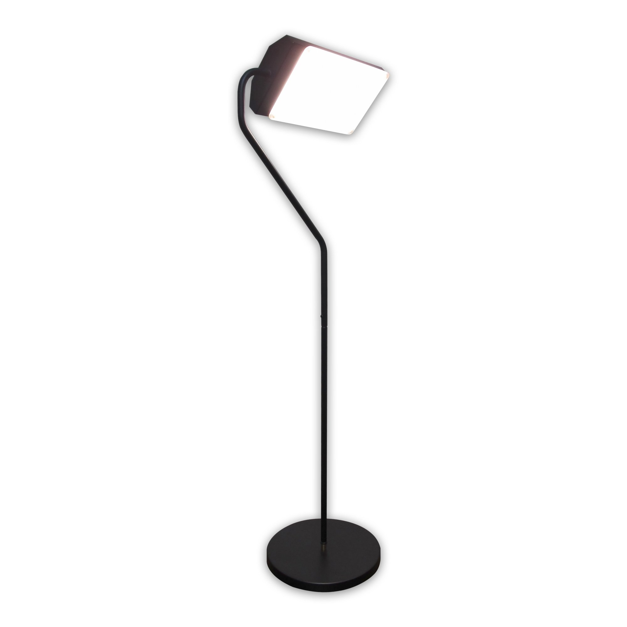 Flamingo 10,000 Lux Bright Light Therapy Floor Lamp, Black by Northern Light Technologies