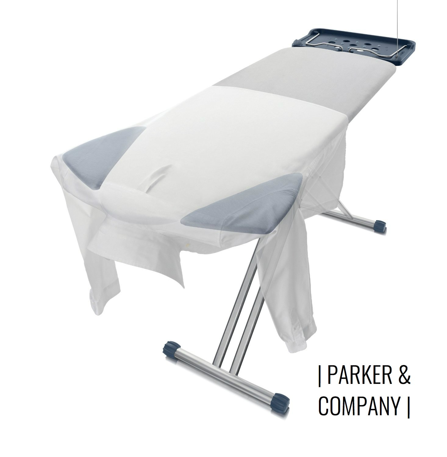 Parker Extra Wide Ironing Pro Board with Shoulder Wing Folding