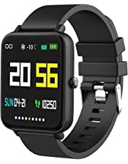 """Foronechi Smart Watch for Android/Samsung/iPhone, Activity Fitness Tracker with IP68 Waterproof for Men & Women, Smartwatch with 1.54"""" Full-Touch Color Screen, Heart Rate & Sleep Monitor, Black"""