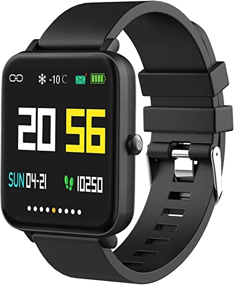 Amazon.com: Reloj inteligente para hombre y mujer. Negro: MinJD