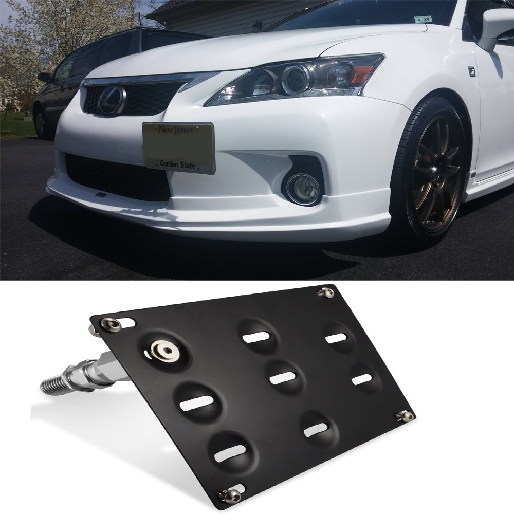 NX RX LS GTP JDM Style Front Bumper Tow Hook License Plate Mounting Bracket for Lexus IS250 IS350 is-F RC200t RC250 RC300 RC350 RC-F GS350 GS460 CT200h