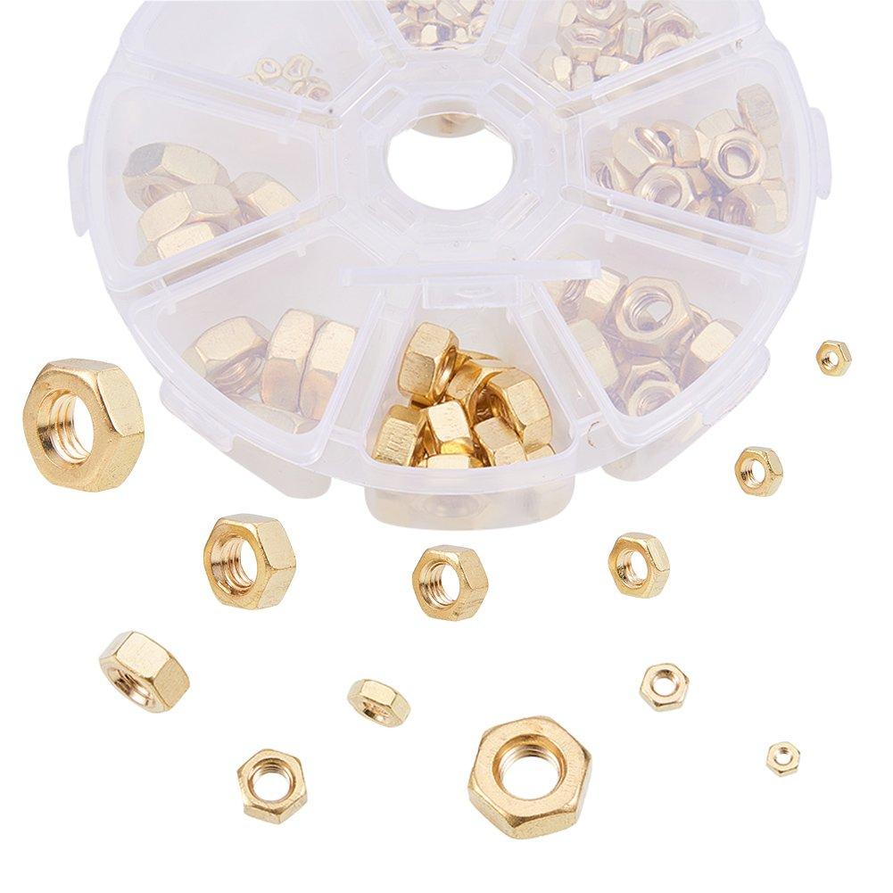 Laiton massif Laiton /Écrou en cuivre /Écrou hexagonal Increway 180/pcs M2/M3/M4/M5/M6/M8/Laiton /Écrou hexagonal Kits