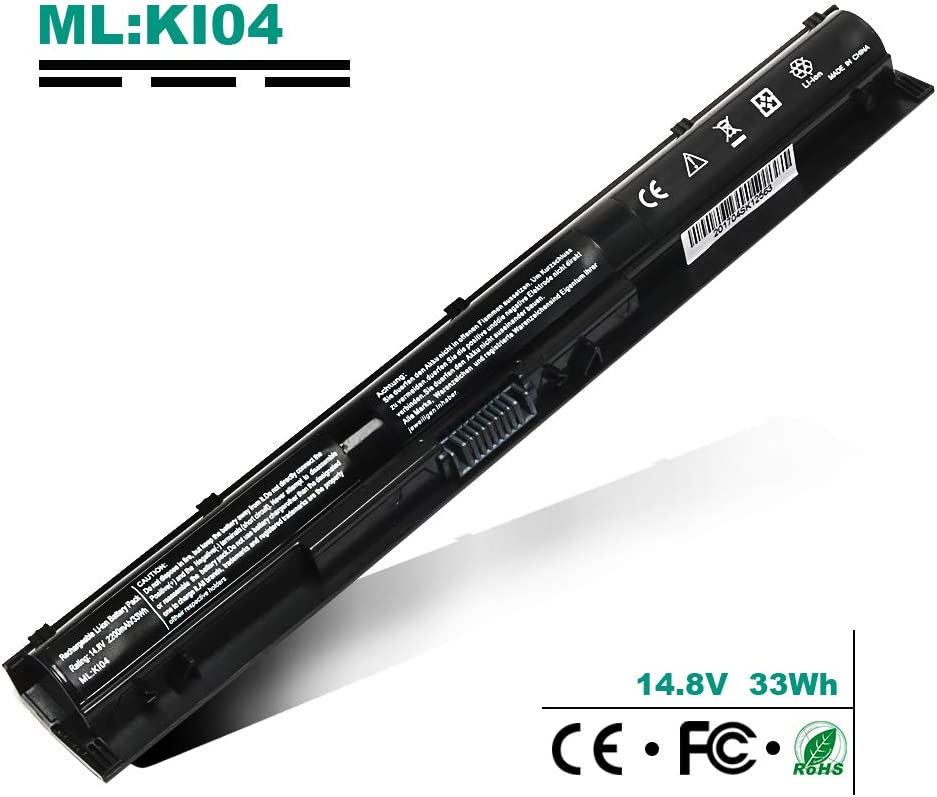800049-001 800009-421 825596-001 800050-001 KI04 HSTNN-LB6R HSTNN-LB6S K104 KIO4 Laptop Battery Replcement for HP Pavilion 15 17 15-ab200 15z-ab100 17T-g100 17z-g100 14.8V 2200MA