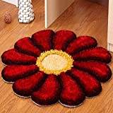Sunflower Round Bedroom Living Room Bedside Chrysanthemum Computer Swivel Chair Children Cartoon Carpet