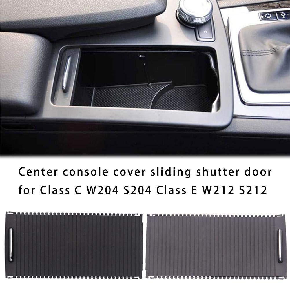 Para Mercedes-Benz W204 W212 Portavasos Persianas enrollables Clase C Clase E Control central Cremallera Caja de almacenamiento Ajuste Centro Cubierta de la consola Puerta del obturador deslizante