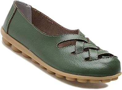 Fangsto Women's Cowhide Leather Loafers