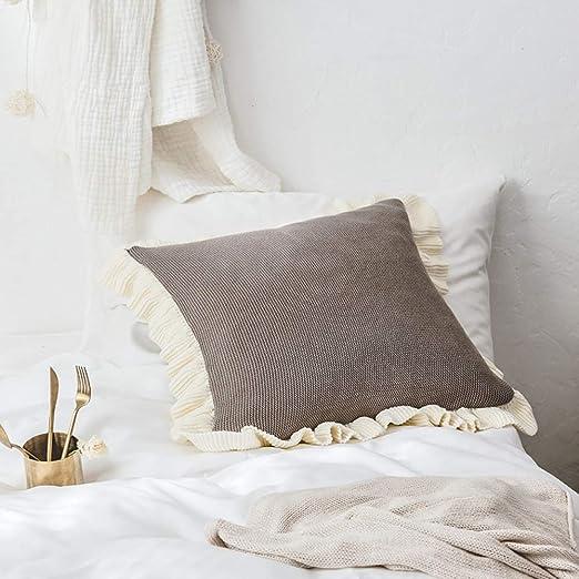 Cojín de algodón de punto princesa viento almohada almohada ...