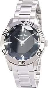 Relógio com vidro sextavado, cor prata, Triton MTX227