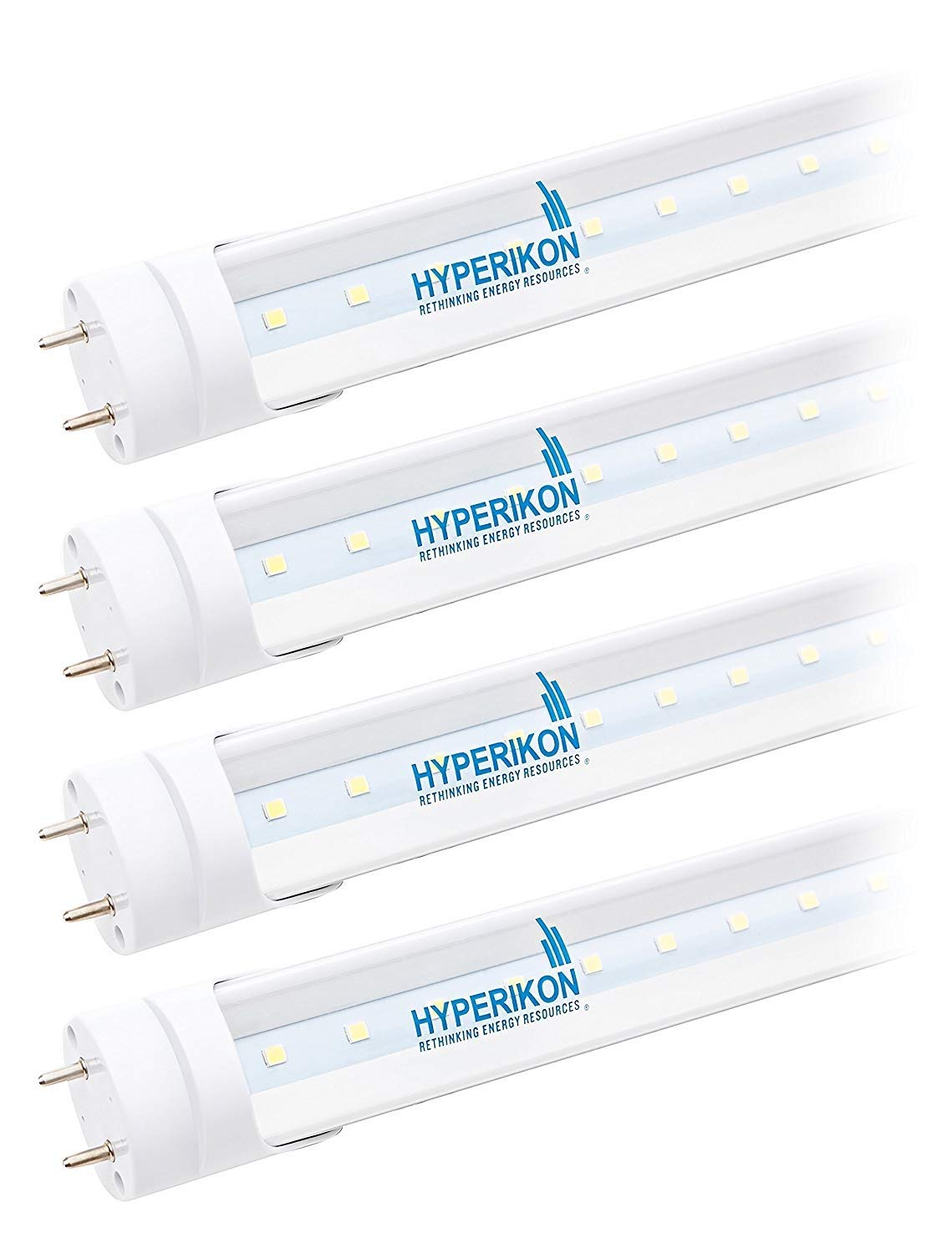 Hyperikon T8 Led Tube 3ft Light 14w 30w 40w Equiv Ballast Wiring Fixtures In Series Multiple Fluorescent Bypass Shatterproof F30t12 Replacement 1400 Lumens 4000k Clear Office Kitchen Garage Ceiling Lights 4 Pack