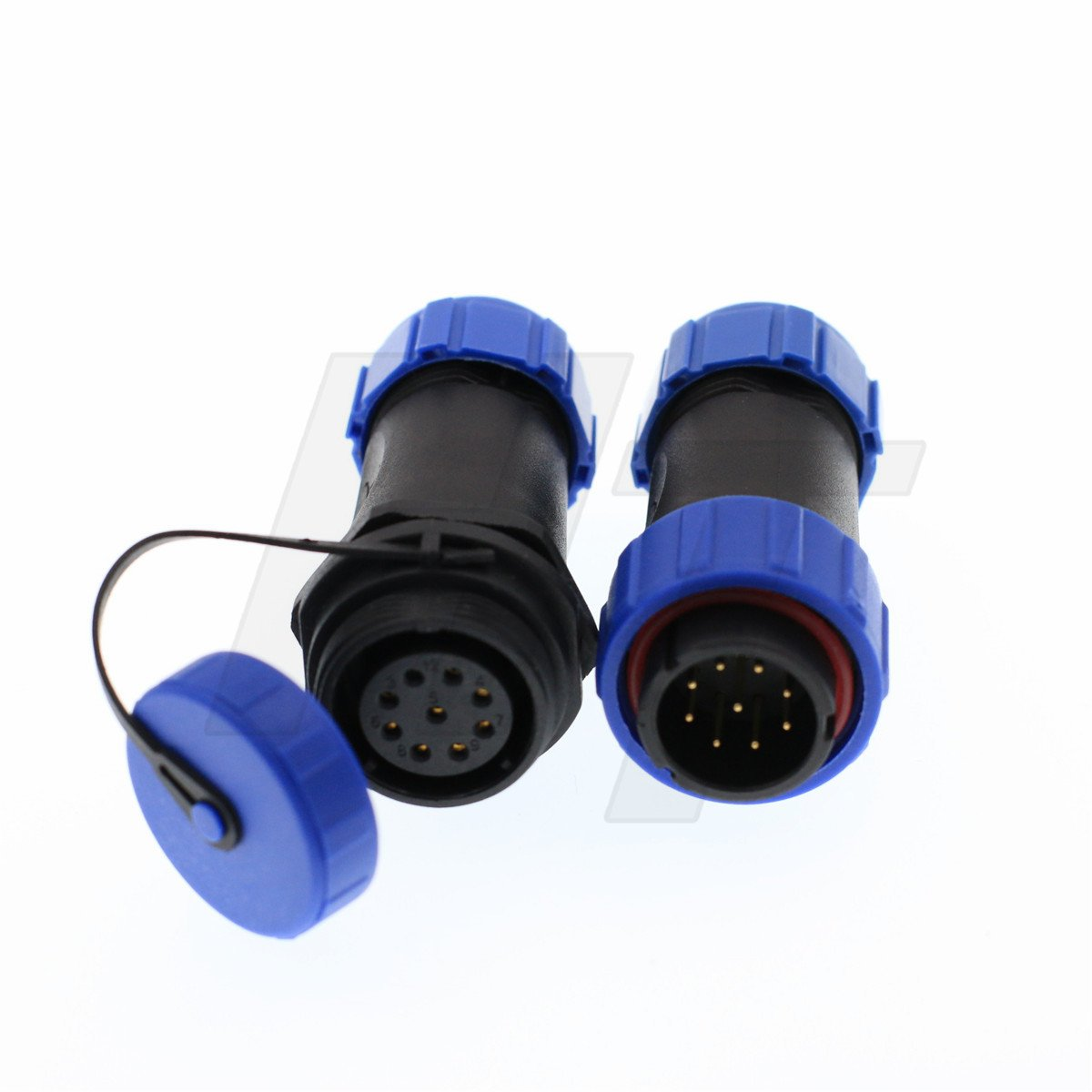 HangTon HE21 9 Pin Waterproof Connector Light LED Power Device Aviation Quick Disconnect Cable Plug & Socket