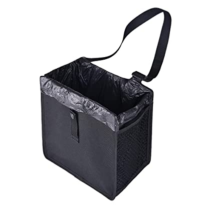 Amazon.com: JETHAX Car Trash Can with Lid, Car Trash Bag ...