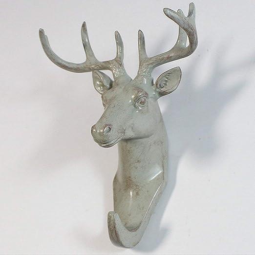 urbanlifeshop cabeza de ciervo solo gancho de pared/percha ...