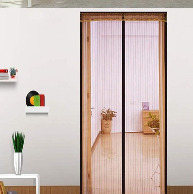 ZJFSX Puerta mosquitera magnética, con malla de malla transpirable y duradera para puertas correderas, balcón: Amazon.es: Bricolaje y herramientas
