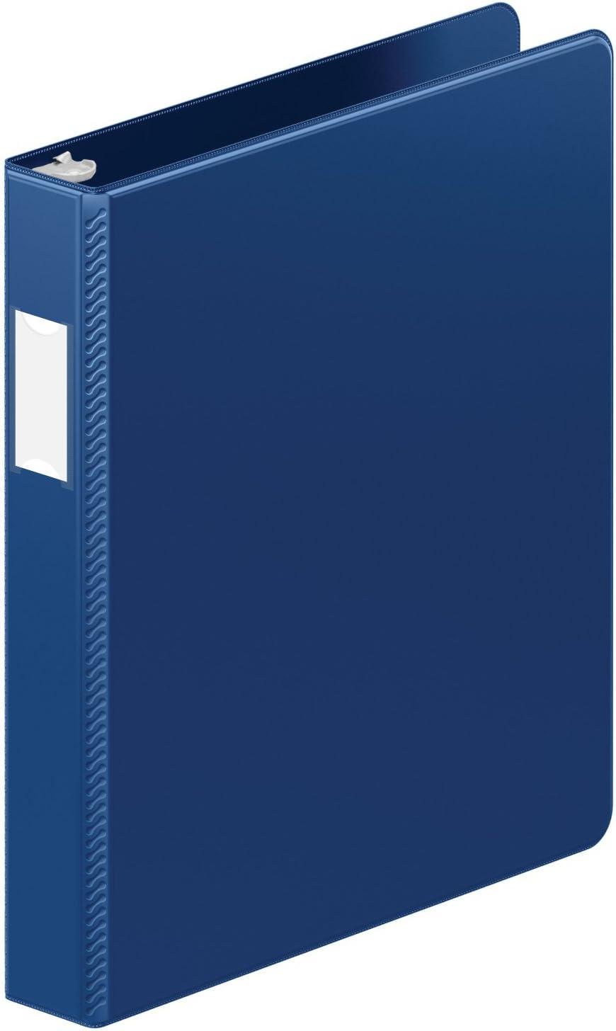 Letter Size 175-Sheet Capacity 5050513561 Wilson Jones ENVI Heavy Duty 1-Inch Round Ring Binder Burgundy