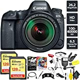 Cheap Canon EOS 6D Mark II DSLR Camera + 24-105mm f/3.5-5.6 Lens + 256GB Memory Card (2X 128) Base Combo