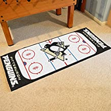 Fanmats Home Indoor sports Team Logo Pittsburgh Penguins Rink Runner Mat