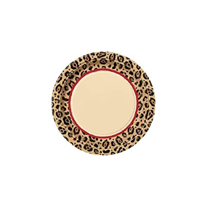 Cheetah Rose Animal Print Large Paper Plates (8ct)  sc 1 st  Amazon.com & Amazon.com: Cheetah Rose Animal Print Large Paper Plates (8ct ...