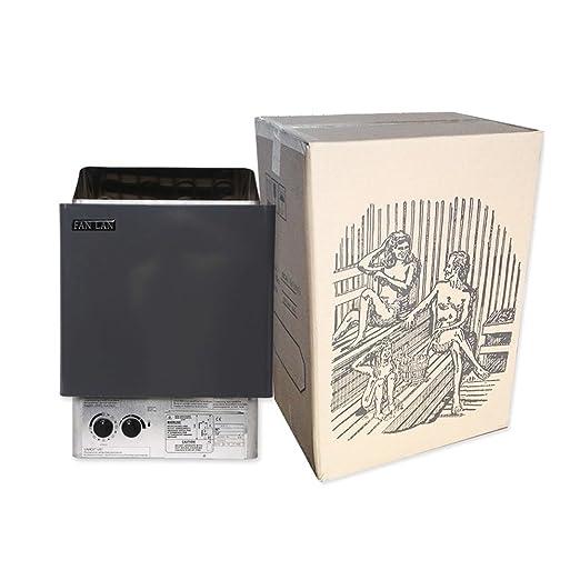 TOPQSC Sauna eléctrica de 9KW, calentador de sauna, calentador de spa con controlador externo, desintoxicación, reducción de peso, adecuado para sauna spa: ...