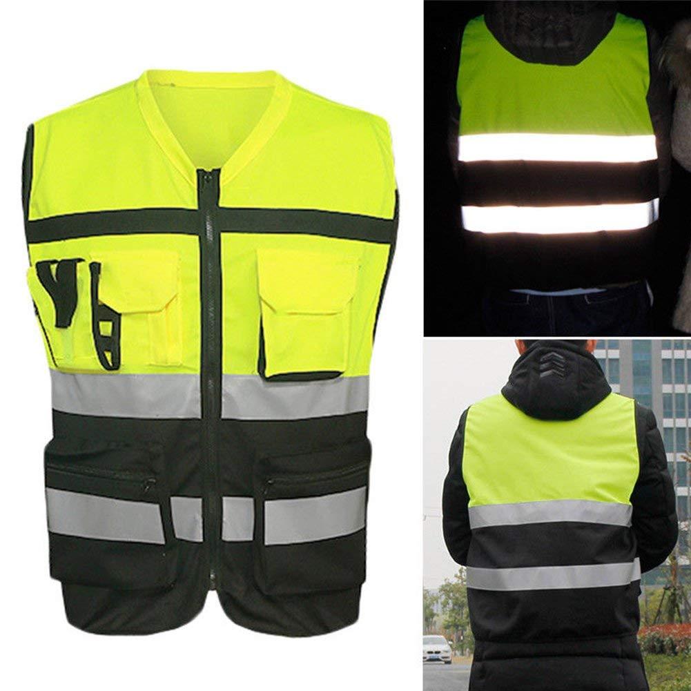 Gute Sichtbarkeit Sicherheit Jacke Reißverschluss Weste Arbeitskleidung