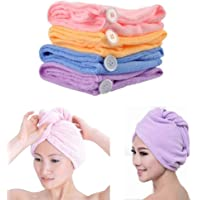 Piesome Absorbent Microfiber Towel Turban Hair-Drying Quick Dry Shower Caps Bathrobe Hat Hair Wraps for Women Magic Hair Warp Towel Women Bathroom Quick Drying Towel