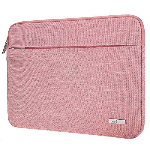 Lacdo 15.6 Inch Laptop Sleeve Bag Compatible Acer Aspire/Predator, Toshiba, Dell Inspiron, ASUS P-Series, HP Pavilion, Lenovo, MSI GL62M, Chromebook Notebook Carrying Case, Water Resistant, Pink