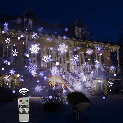 MYGIRLE Luces De Proyector, Proyector Navidad LED Exterior y ...
